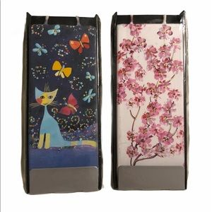 New Flatyz decorative flat candles cat and floral